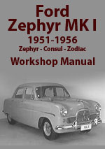 Ford Zephyr-Six, Zodiac, Consul Workshop Service Repair Manual Download pdf