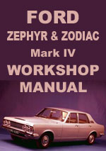 Ford Zephyr, Zodiac, Mark 4 Workshop Service Repair Manual Download pdf