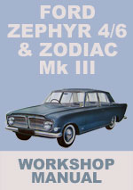 Ford Zephyr 4, Zephyr 6 and Zodiac Mk III Workshop Service Repair Manual Download pdf