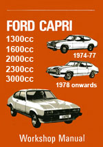 Ford Capri 1600, 1300, 2000, 2.3L, 3000, 2.8L, 1974-1983 Workshop Service Repair Manual Download pdf